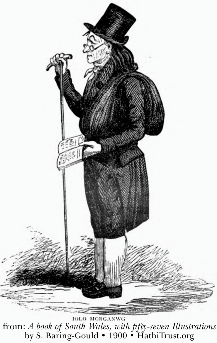 A portrait of Edward Williams or Iolo Morganwg by George Cruickshank