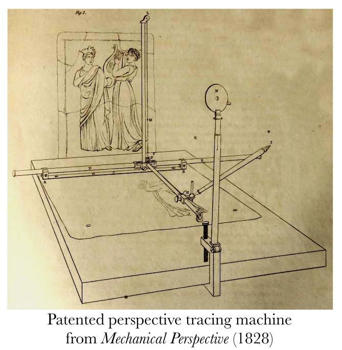 Patented perspective tracing machine