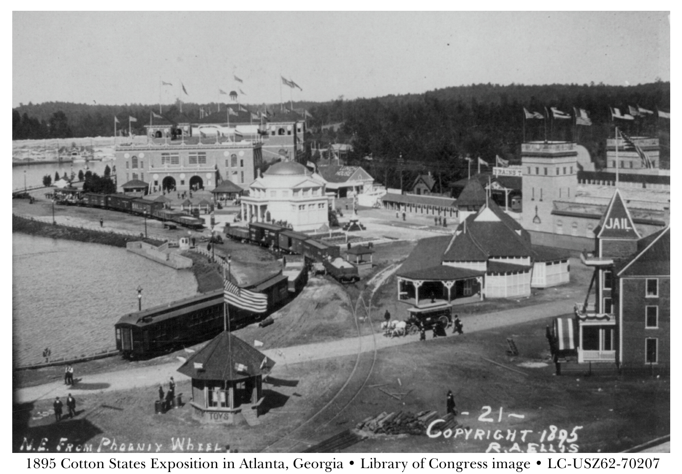 1895 Cotton States and International Exposition in Atlanta, Georgia - from Library of Congress image LC-USZ62-70207