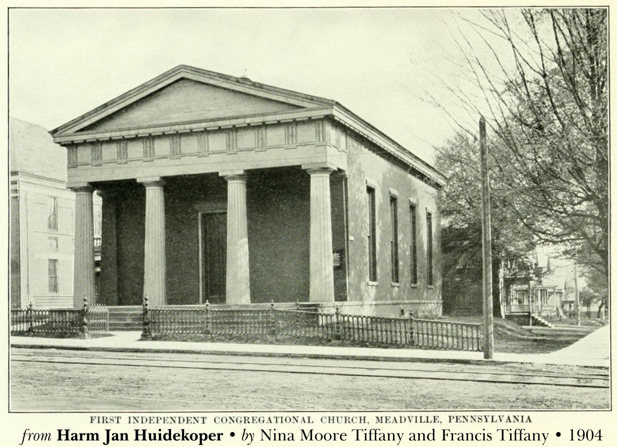 First Independent Congregation in Meadville, PA from Nina Moore Tiffany and Francis Tiffany biography, 1904