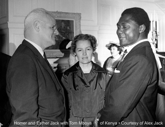 Homer Jack, Esther Jack, & Tom Mboya of Kenya