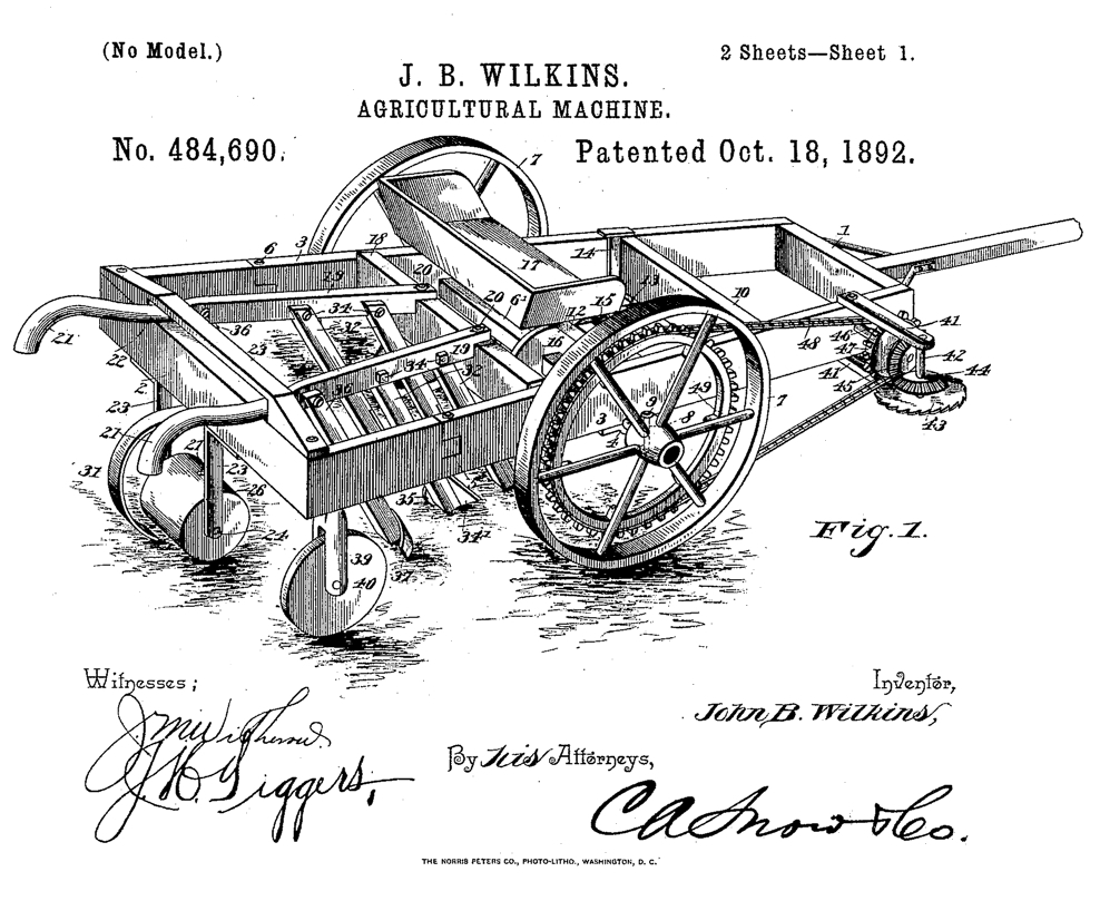 Agricultural Machine Patent