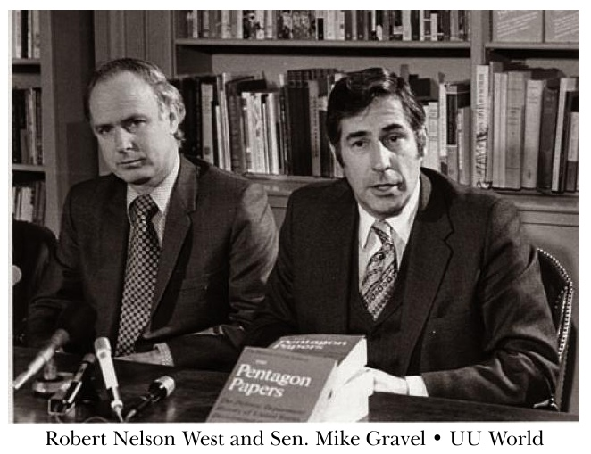 Robert Nelson West and Sen. Mike Gravel - UU World