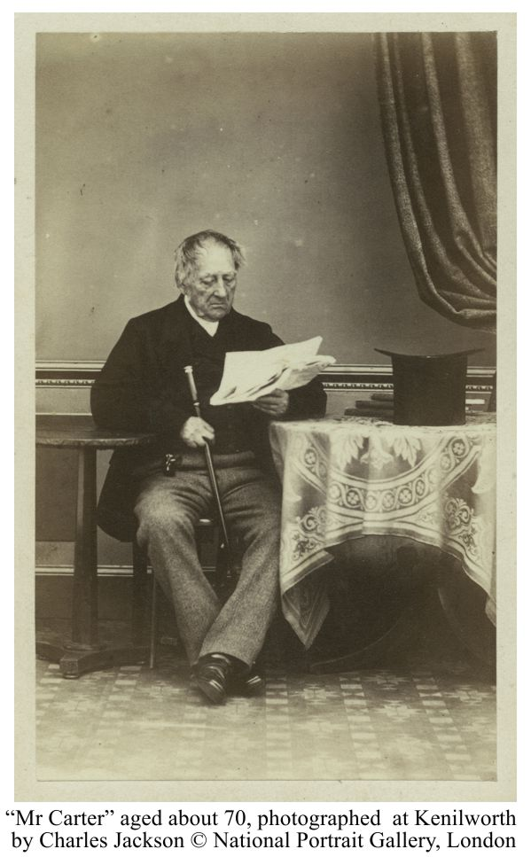 Mr Carter aged about 70, photographed by Charles Jackson at Kenilworth. © National Portrait Gallery, London