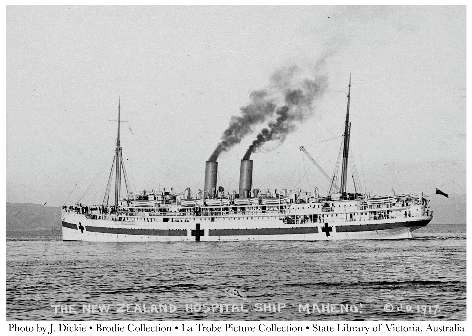 New Zealand Hospital Ship Maheno, State Library of Victoria