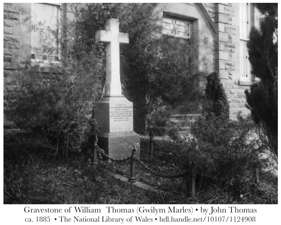 Grave of William Thomas (Gwilym Marles) - by John Thomas - ca. 1885 - The National Library of Wales - hdl.handle.net/10107/1124908